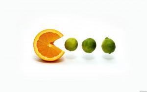 #SiLaVidaTeDaNaranjas, cómete el mundo como Pacman a los fantasmas. Naranjas Jiménez