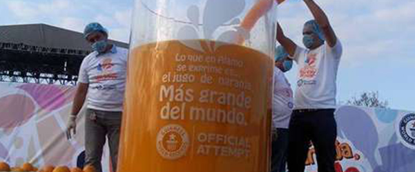 Record Mundial de zumo de naranja - Naranjas Jiménez
