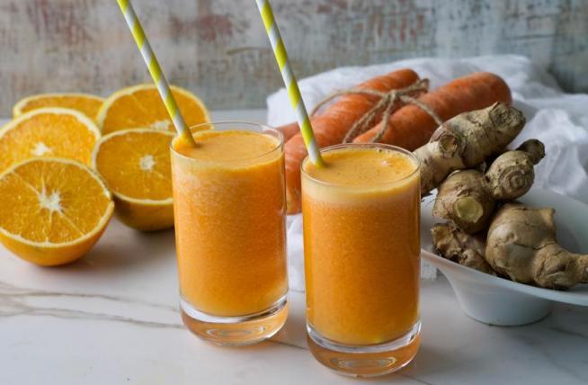 Zumo de zanahoria, naranja y jengibre - Naranjas Jiménez