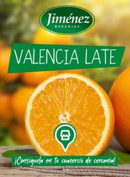 Naranjas Jiménez: variedades - Valencia Late